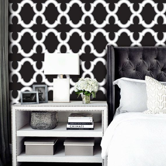 Peel And Stick Wallpaper Black And White Small Bathroom Ideas
