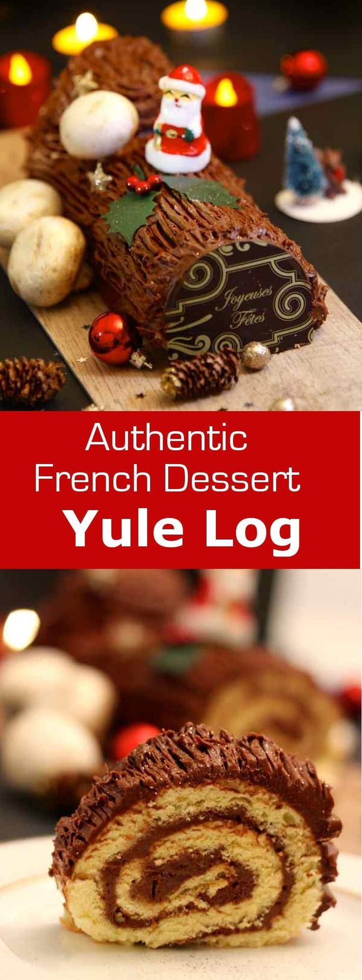228 best french desserts images on pinterest petit fours conch chocolate yule log bche de nol au chocolat cake arttraditional christmas forumfinder Images