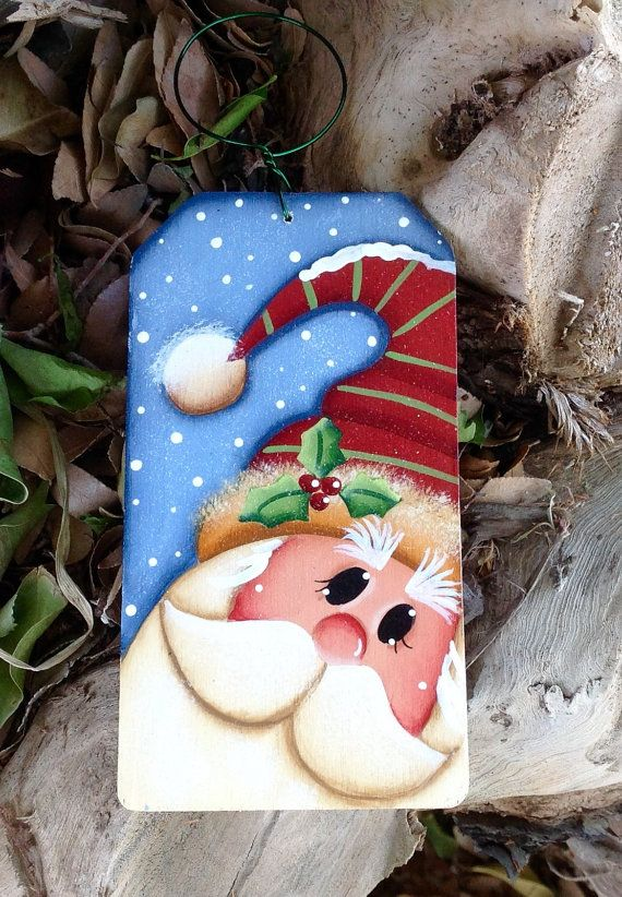 NEW 2016 Merry Merry Santa Ornament por CountryCharmers en Etsy Más