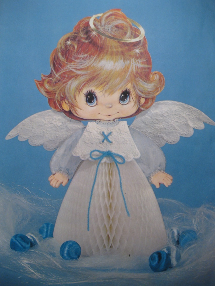 1000 images about honeycomb christmas decorations on for Angel decoration
