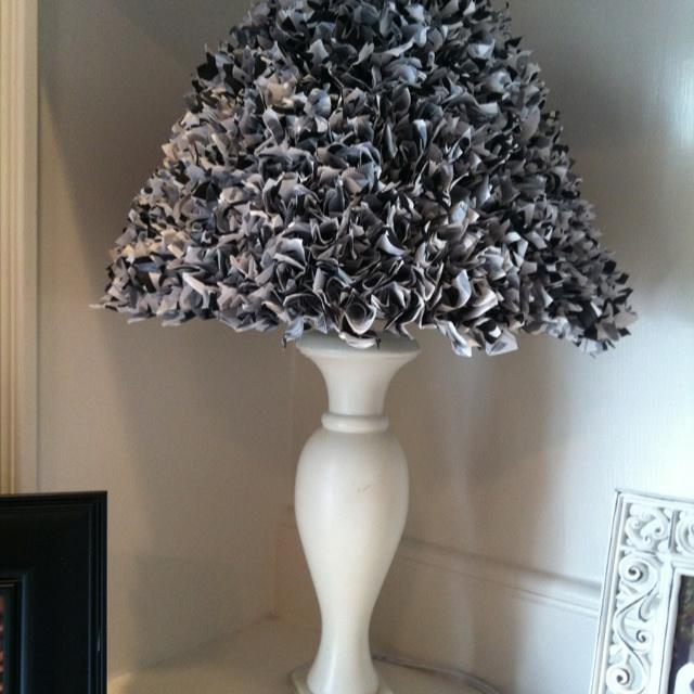 Tissue paper lamp shade! | luminarias e velas | Pinterest ...