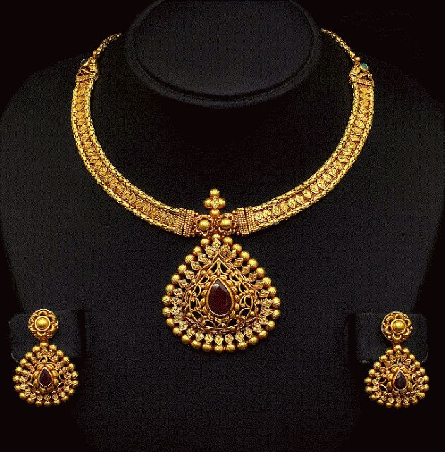 Top 25 Indian Antique Jewellery Designs For Women: Best 25+ Indian Gold Necklace Ideas On Pinterest