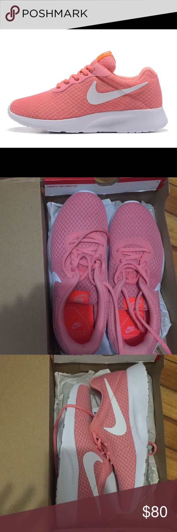 Pink Nike Tanjuns💥💥 BRAND NEW and always sold out in stores Nike Shoes Athletic Shoes