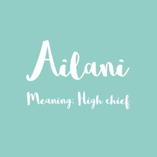 Ailani - Simply Adorable Hawaiian Baby Names for Girls - Photos