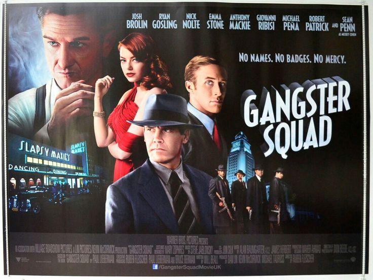 Gangster Squad quad movie poster