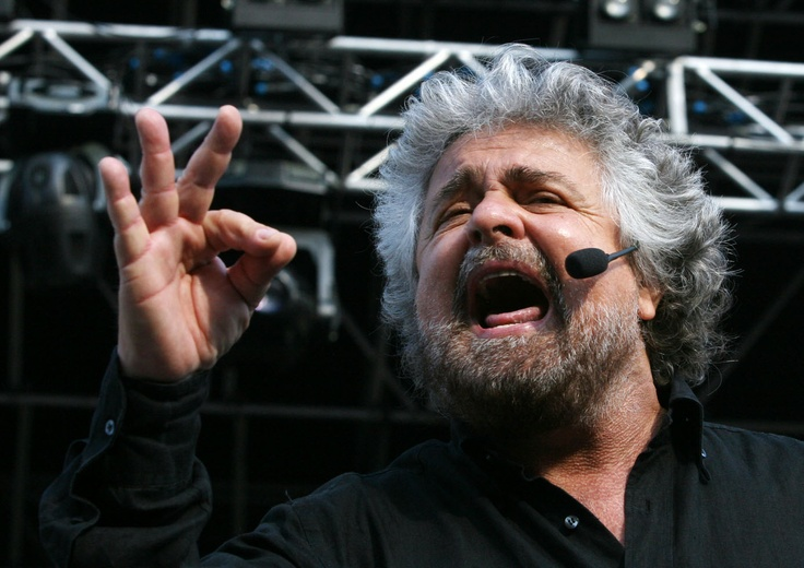 Beppe Grillo - 2013 - Movimento 5 Stelle - Political Rally Genova