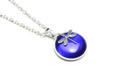 Just Trisha - Lange Halskette Blaue Libelle