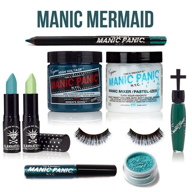 In celebration of reaching 100K followers on Instagram, we gave three colorful sets to random Dye Hard winners! This Manic Mermaid set included: 1 Classic Color in Siren's Song, 1 Pastelizer, 1 Cross Gloss in Poison Ivy, 1 Lethal Lipstick in Atomic Turquoise, 1 Lethal Lipstick in Green Icing, 1 Lust Dust in Mermaid, 1 Glitter Pencil Liner in Mermaid, 1 Dreamliner Liquid Liner in Mermaid, 1 set of Glam Lashes in Siren.