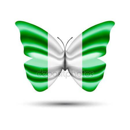 Nigerian flag butterfly — Stock Vector © jackreznor #144025663