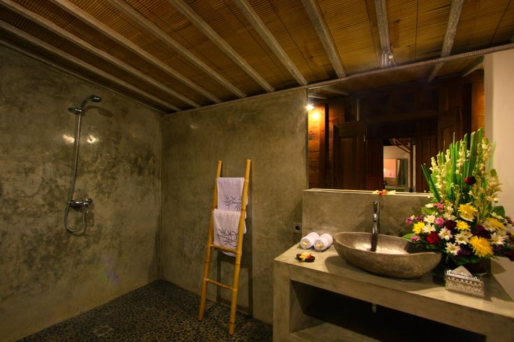 Ensuite #bathroom with #Balinese style.