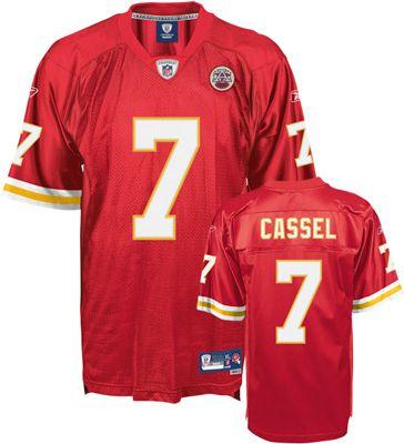 Reebok Kansas City Chiefs Matt Cassel 7 Red Authentic Jersey Sale