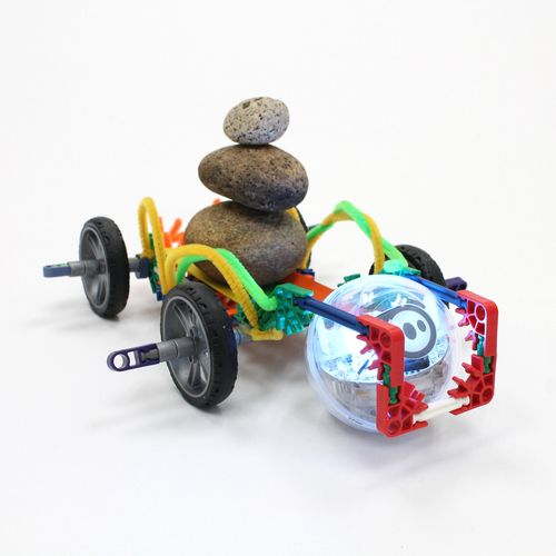 Learn about chariots as they were used throughout history. Design and create a unique Sphero chariot, then create a program for Sphero to navigate the race course.