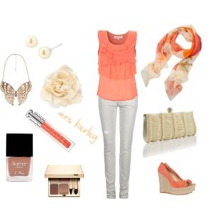 i like the peach color