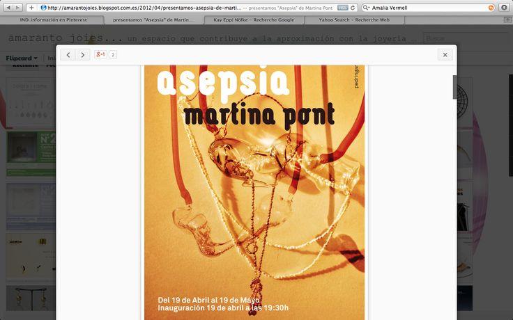 Cartel exposición Martina Pont