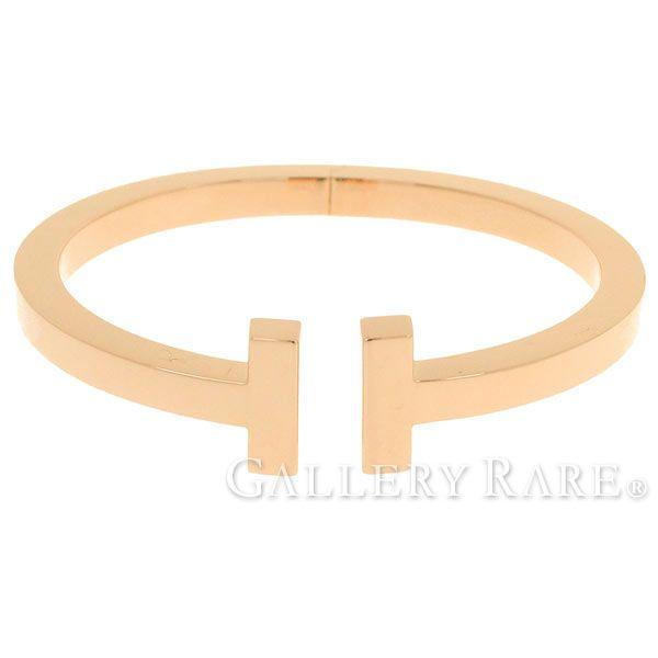 ティファニー ブレスレット Tスクエア K18PG ピンクゴールド TIFFANY Tコレクション バングル ジュエリー