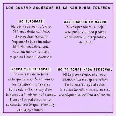 Los 4 acuerdos de sabiduria Tolteca