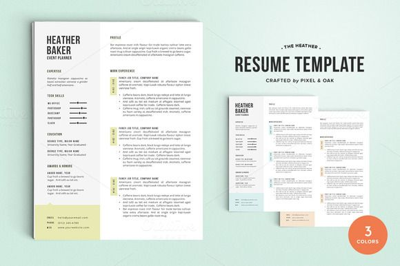 Resume Template The Heather Heather ou0027rourke, Resume and Templates - baker resume