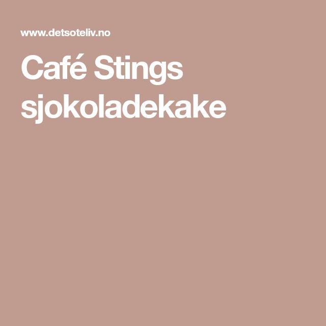 Café Stings sjokoladekake