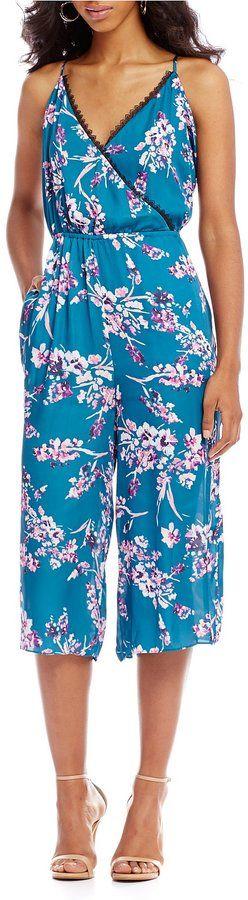 devlin Kacie Printed Culotte Jumpsuit