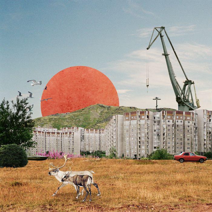 Collages by Oleg Borodin