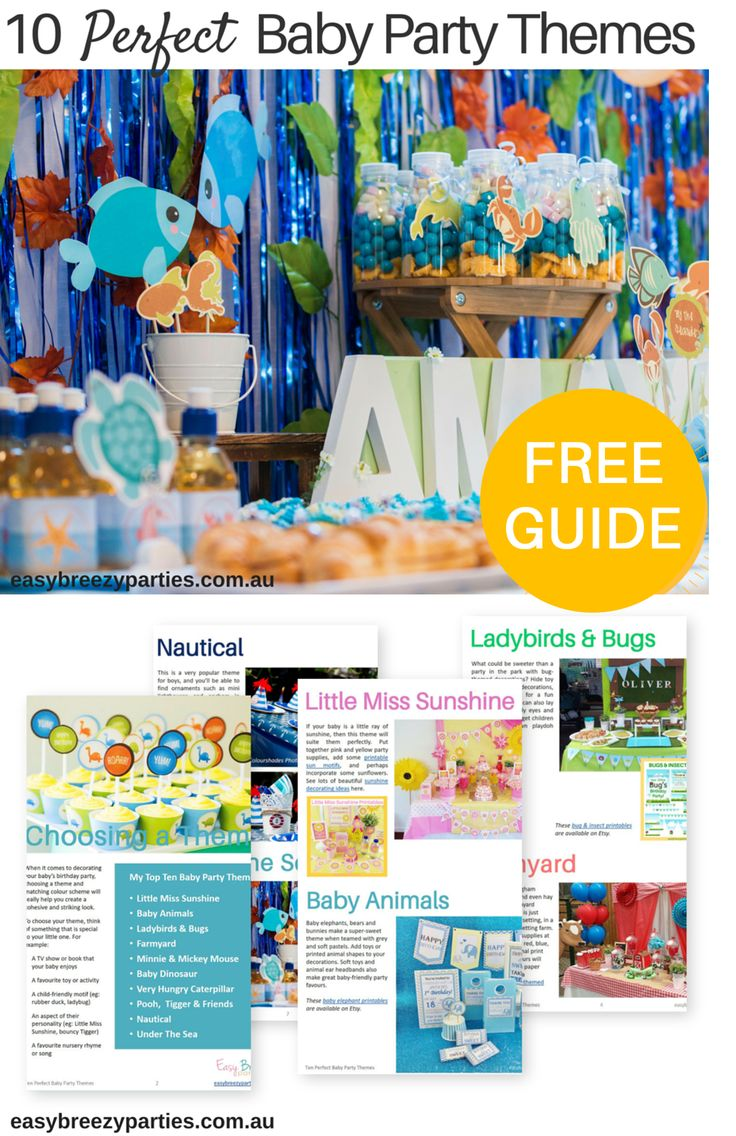 Ten perfect baby party themes - a free download full of baby party inspiration. Dowload it at http://www.easybreezyparties.com.au/party-inspiration-and-ideas/item/135-ten-perfect-baby-party-themes.html #babyparty #easybreezypartes