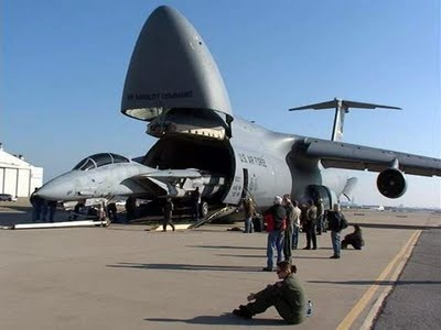 C-5 Galaxy with a Tomcat ~ the C-5 has always been my favorite plane
