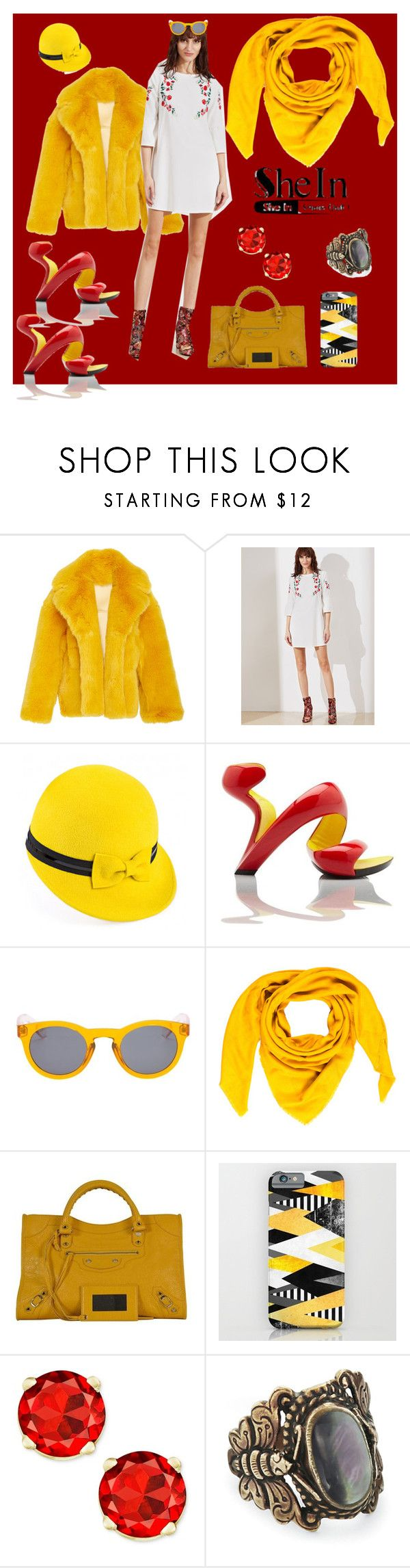 """""""Sunshine, Daisies, Buttermallow"""" by bluehatter ❤ liked on Polyvore featuring Mademoiselle Slassi, Vans, Goyard and Balenciaga"""