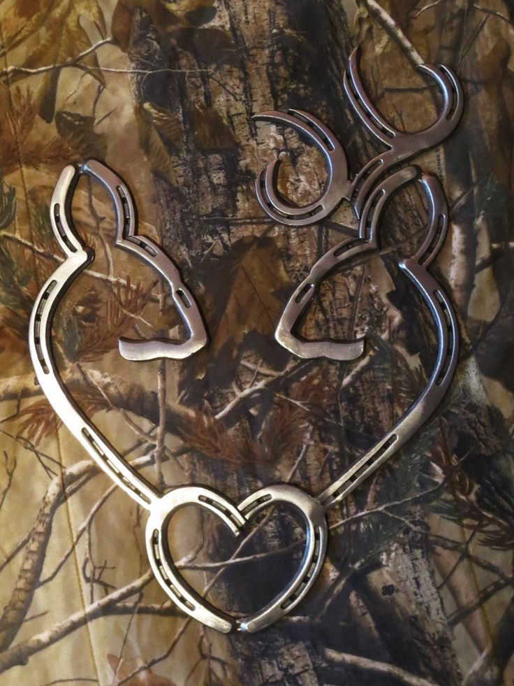 Deer Heart Steel made out of horse shoes.
