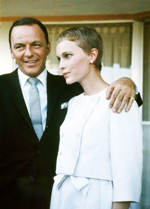 Frank & Mia on their wedding day, 1966. Her haircut: Vidal Sassoon.