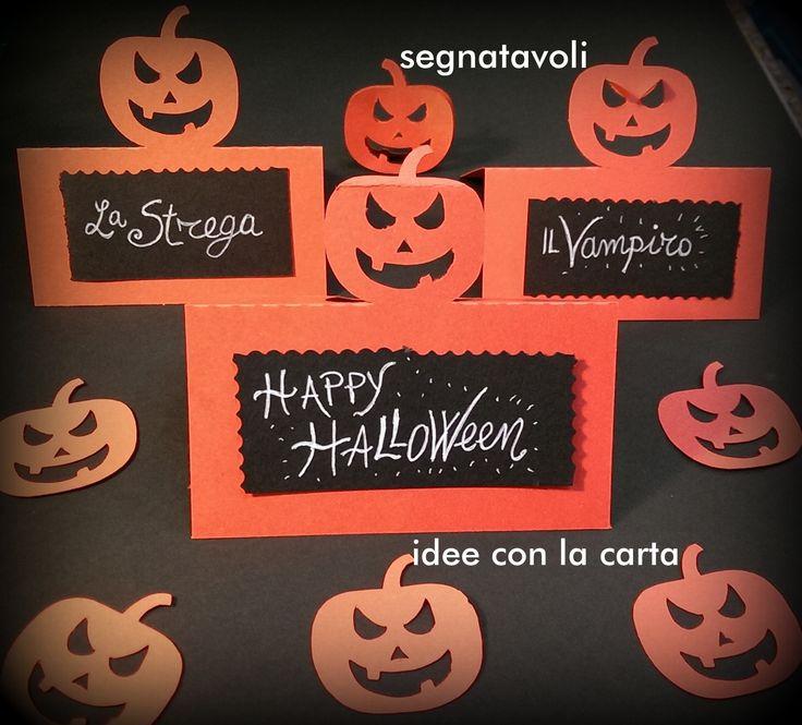 Segnaposto, halloween, idee halloween happyhalloween #paper #halloween #happy #card