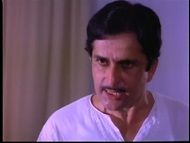 Shashi Kapoor in Govind Nihalani's Vijeta where he starred with his real life son Kunal Kapoor.