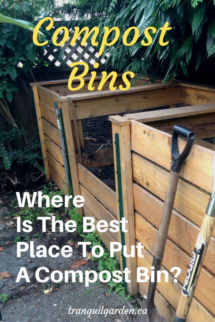 How To Plan Out The Best Place To Put A Compost Bin Compost