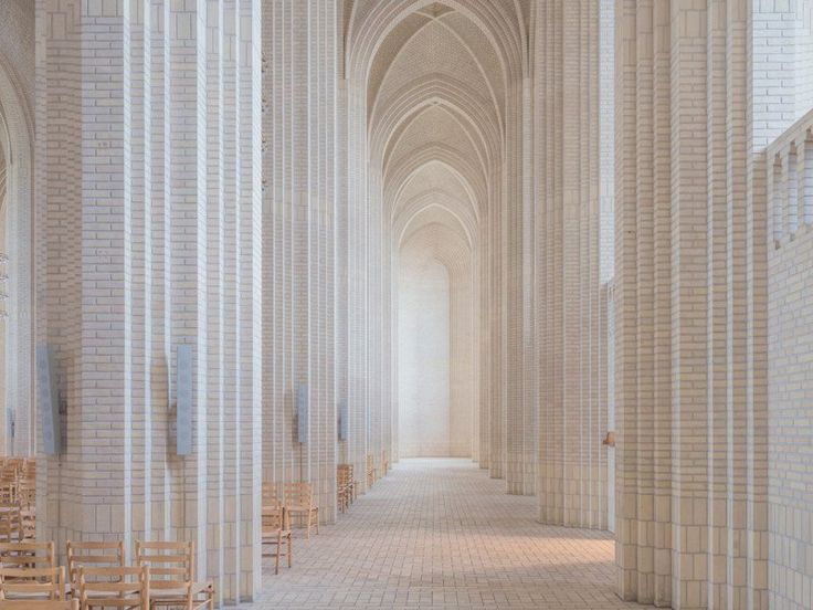 Photos of the Beautiful Vaulted Halls of Grundtvig's