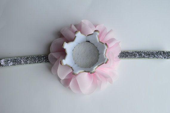 Plata y rosa bebé corona diadema cumpleaños por Moonpennieskids