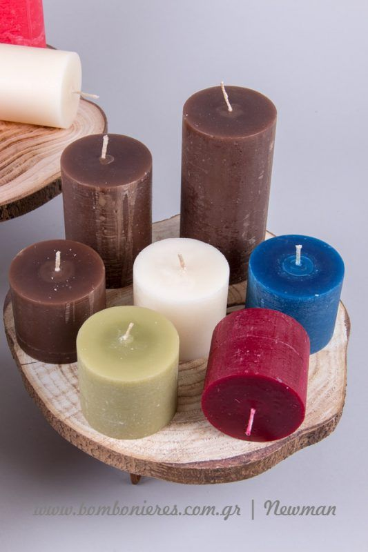 Διακοσμήστε και κάντε δώρα rustic κεριά | bombonieres.com.gr