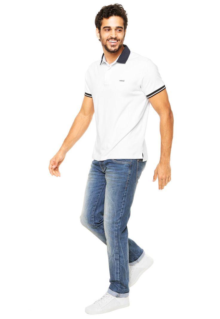 Calça Jeans Colcci Slim Azul - Marca Colcci