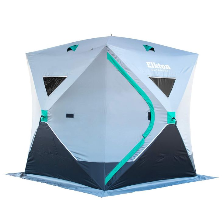 Portable 3-Person Ice Fishing Tent With Ventilation Windows & Carry Pack