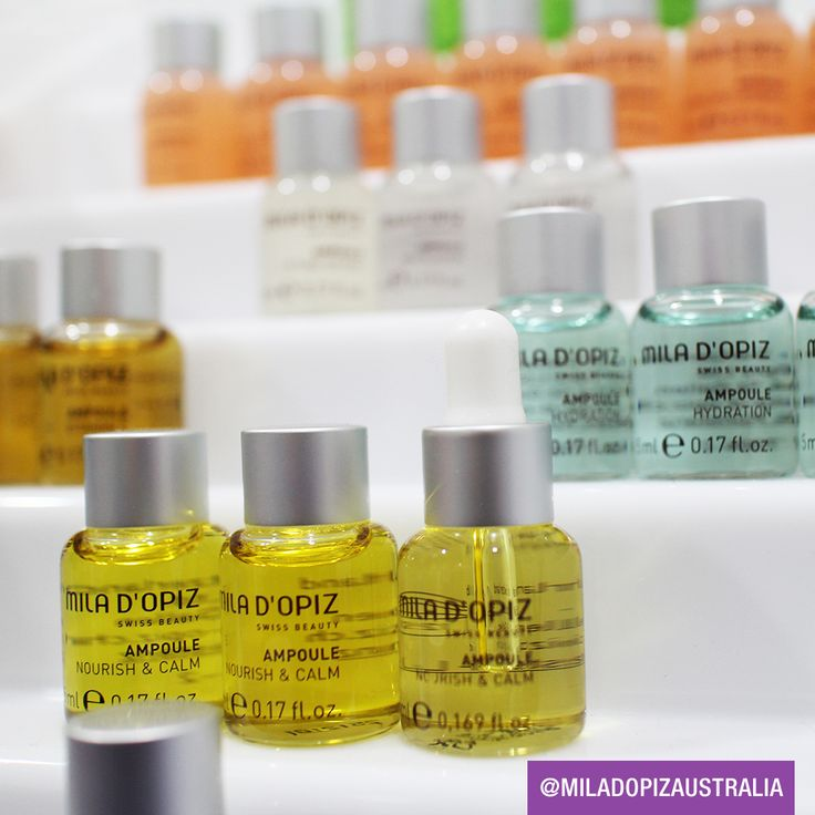Mila d'Opiz Australia - Concentrate Collection. From the first application these concentrates provide their unique effects to improve the appearance of the skin. Each serum has it's own specificity and each precious drop is 3-5 times richer and more effective than traditional 'Essentials'.