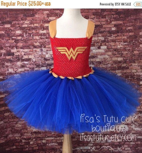 Birthday sale Wonder woman tutu wonder woman dress by LisasTutus