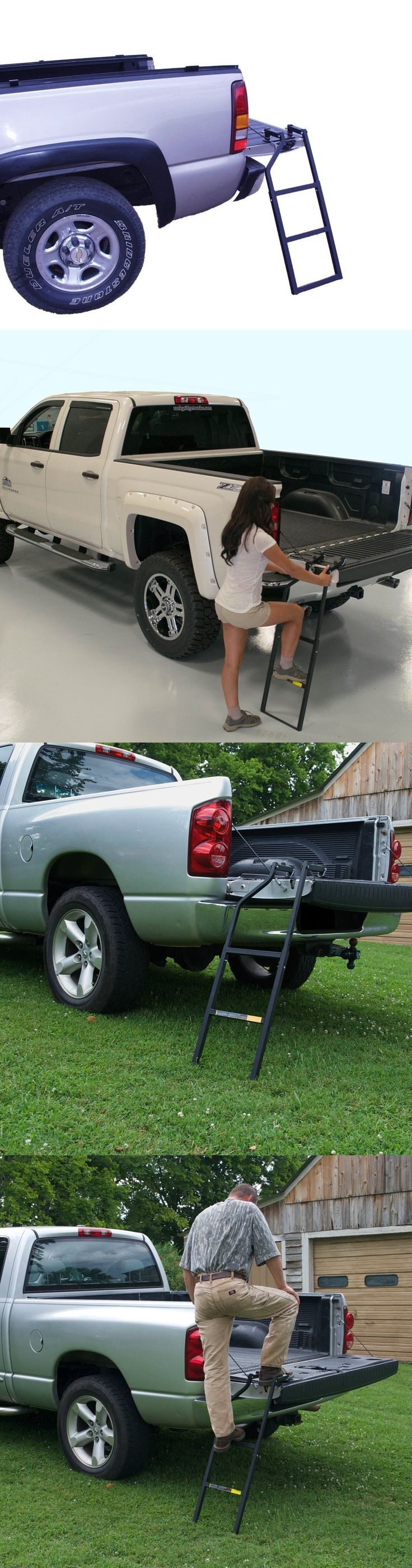 Other Backyard Games 159081: Universal Heavy Truck Tailgate Ladder Bed Tail Gate Step Easy Setup Fit Work -> BUY IT NOW ONLY: $52.6 on eBay!
