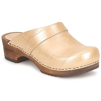 Wooden shoes Sanita RUTH OPEN Gold