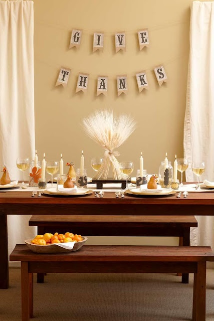 I have a spot right above my table perfect for a DIY banner like this- perf for Friendsgiving #AGPinGiving 4