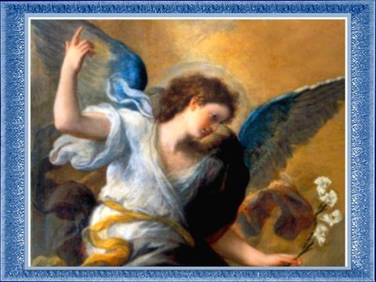 San Gabriel Arcángel, bendito ser de luz,   gloriosísimo ángel de la paz y la esperanza,   fiel y noble mensajero del Padre Eterno   y ...