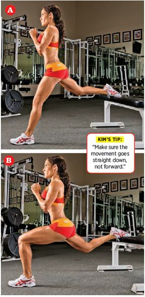 Split Squat: This exercise works both glutes at the same time - one gets stretched while the other is contracted.