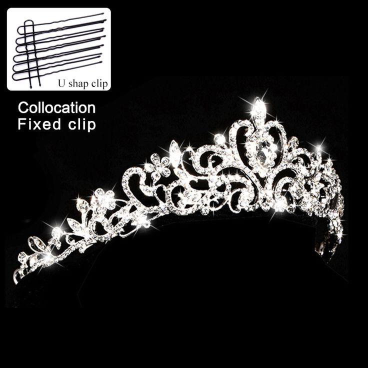 pageant crystal king crown pearl princess bride tiara diadem wedding tiaras and crowns rhinestone queen bridal hair accessories