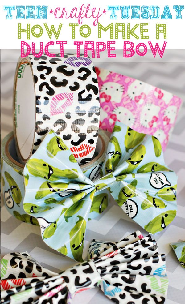 How To Make a Duct Tape Bow - {Teen Crafty Tuesday}