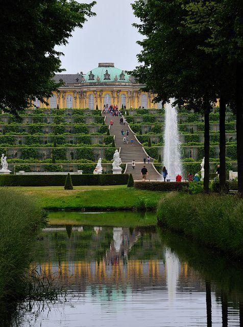 Sansoucci Palace, Potsdam, Brandenburg, Germany