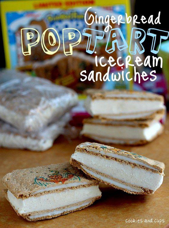 Pop Tart Ice Cream Sandwiches
