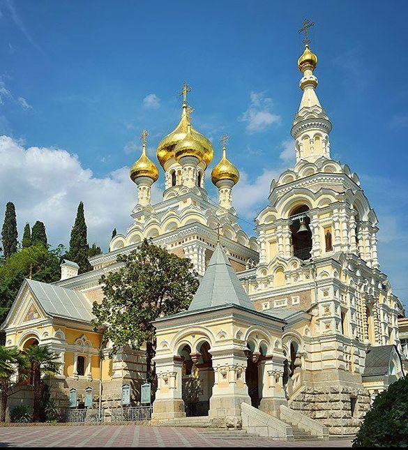 A Nevskij Church in Yalta , Crimea,Ukraine,  from Iryna