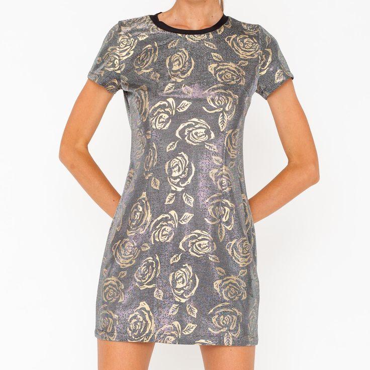 Mini abito laminato fantasia floreale. Art. GL-162
